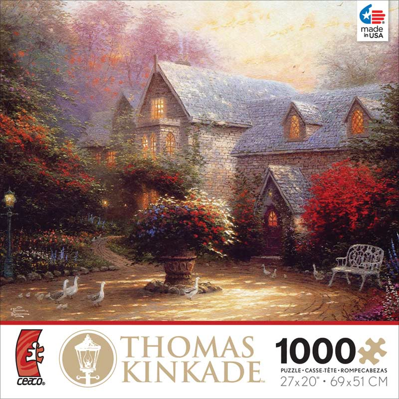 Kinkade - The Blessings of Spring Countryside Jigsaw Puzzle