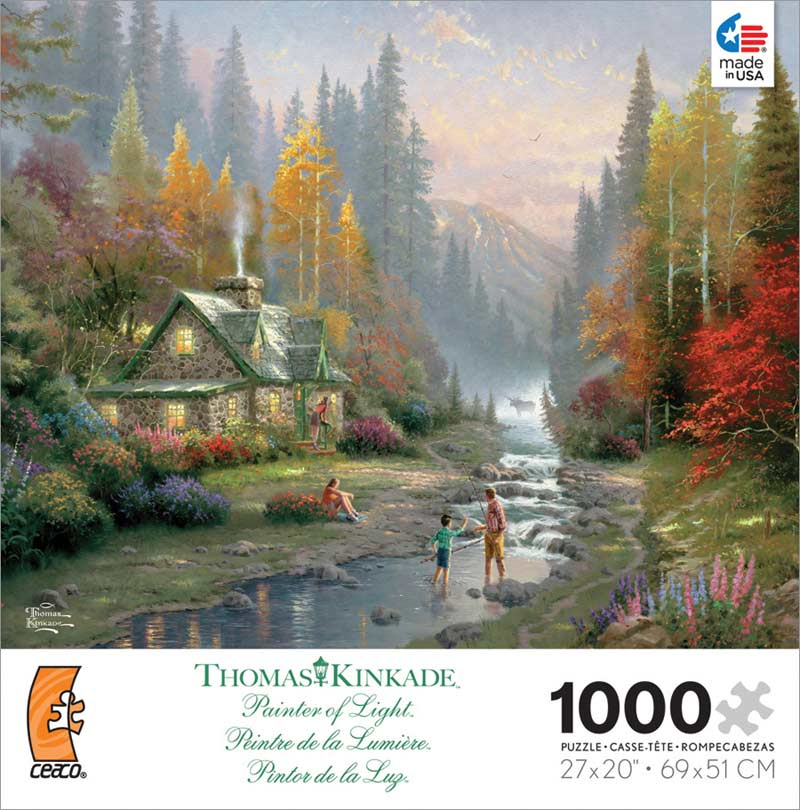Kinkade - Weekend Retreat Contemporary & Modern Art Jigsaw Puzzle