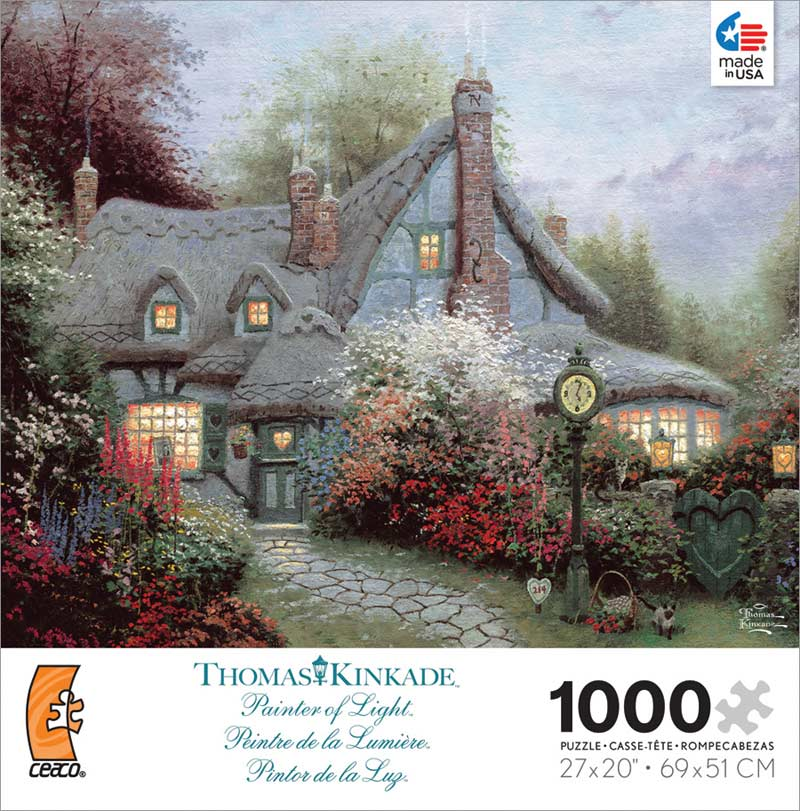 Kinkade - Sweetheart Cottage Contemporary & Modern Art Jigsaw Puzzle