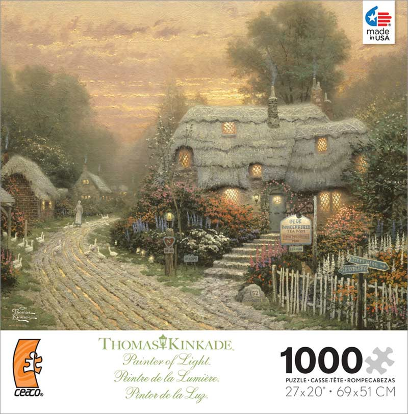 Kinkade - Olde Porterfield Tea Room Contemporary & Modern Art Jigsaw Puzzle