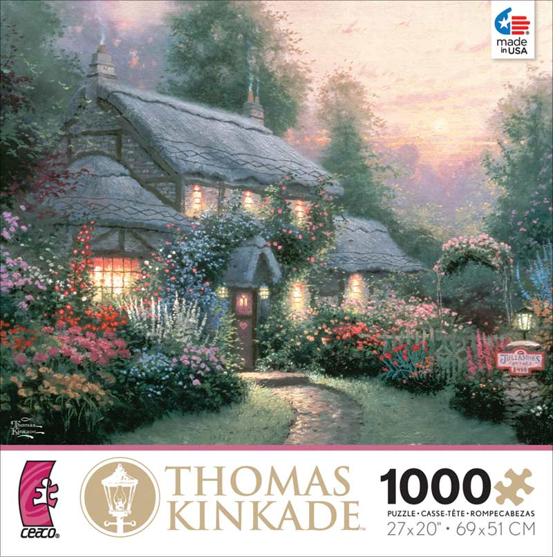 Kinkade - Julianne's Cottage Countryside Jigsaw Puzzle