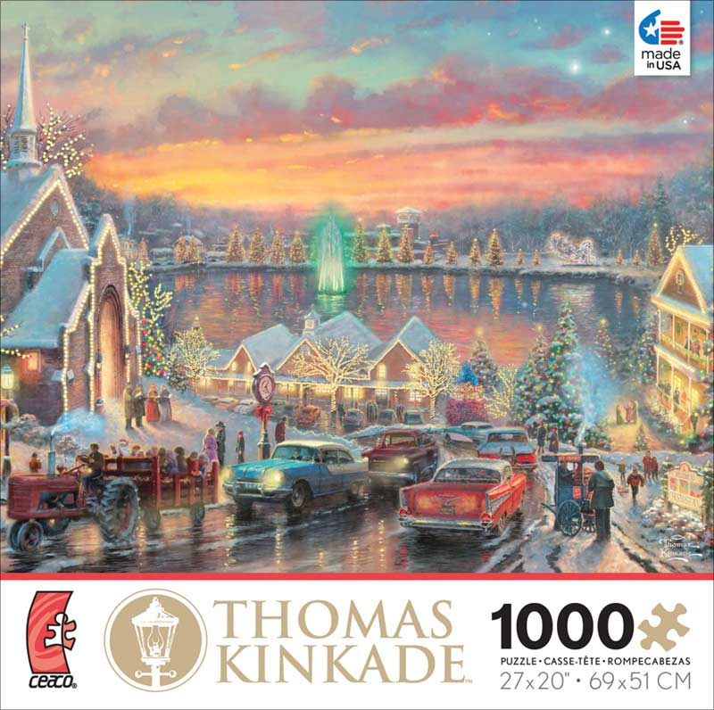 Kinkade - Lights of Christmastown Christmas Jigsaw Puzzle