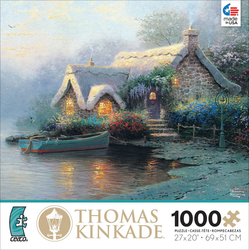 Kinkade - Lochaven Cottage Countryside Jigsaw Puzzle