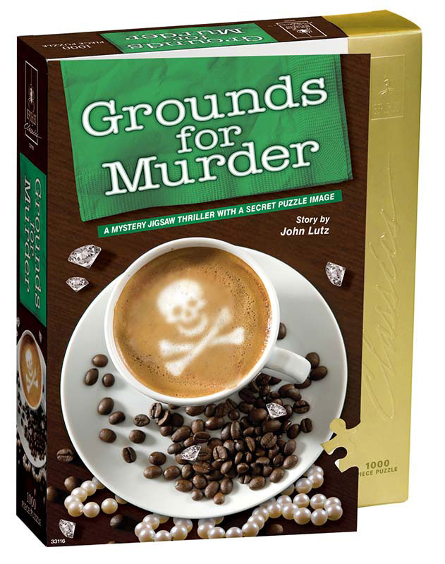 Grounds for Murder Mystery Jigsaw Puzzle