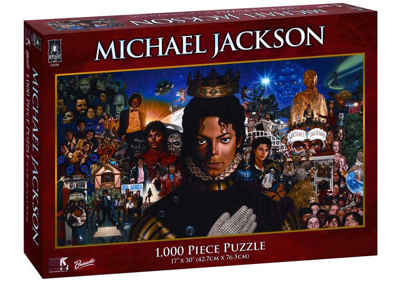 Michael Album Cover Panoramic Jigsaw Puzzle