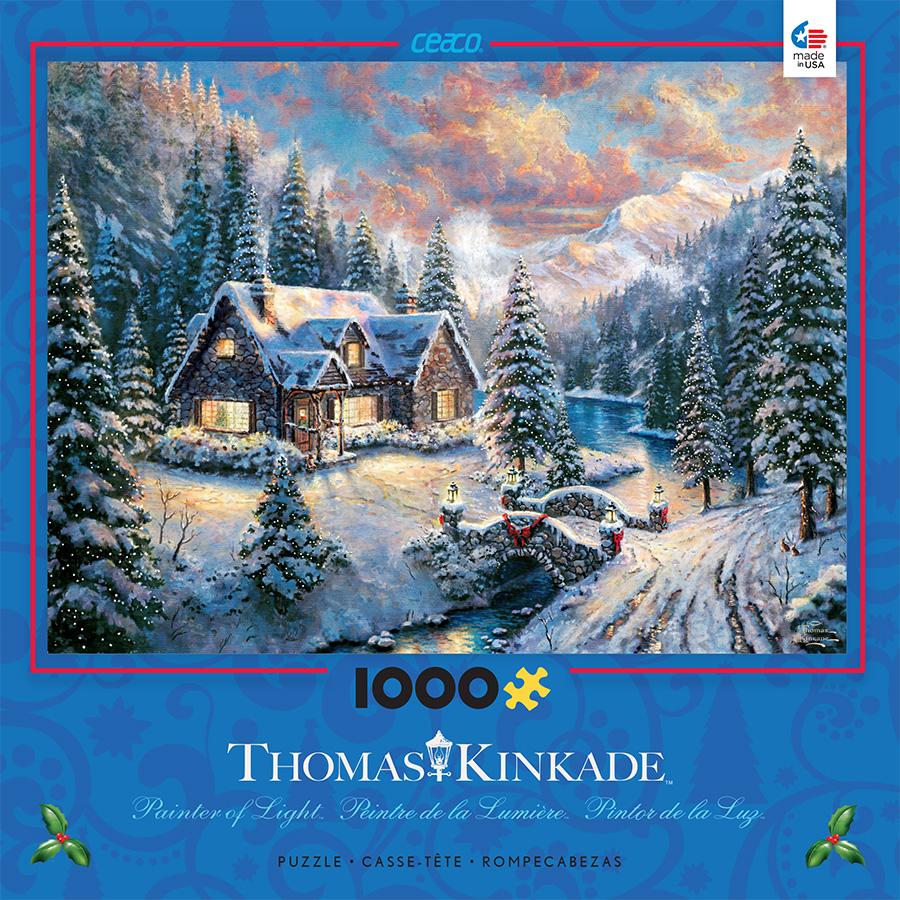 Thomas Kinkade Christmas - High Country Christmas Jigsaw Puzzle ...