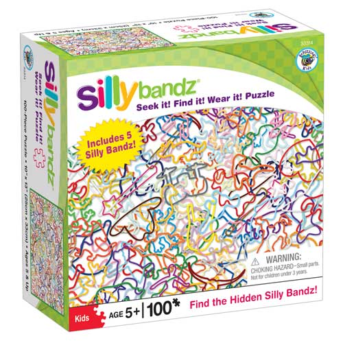Silly Bandz Seek It! Find It! Wear It! - White Hidden Images