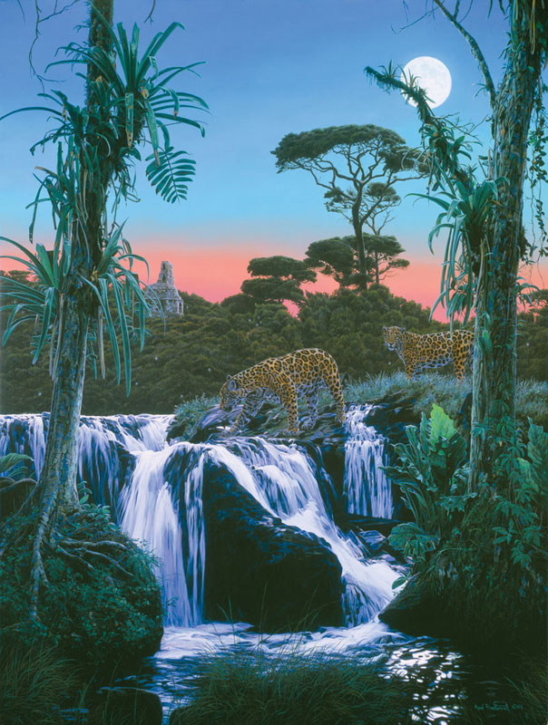Tropic Moon Jungle Animals Jigsaw Puzzle