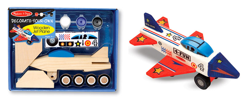 Wooden Jet Plane - DYO Planes Arts and Crafts