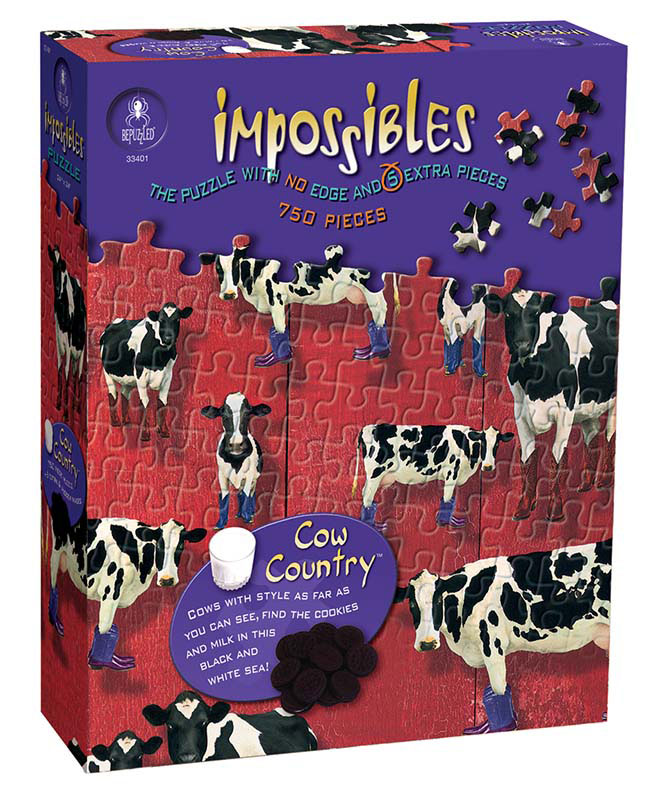 Impossibles Puzzles - Cow Country Cows Jigsaw Puzzle
