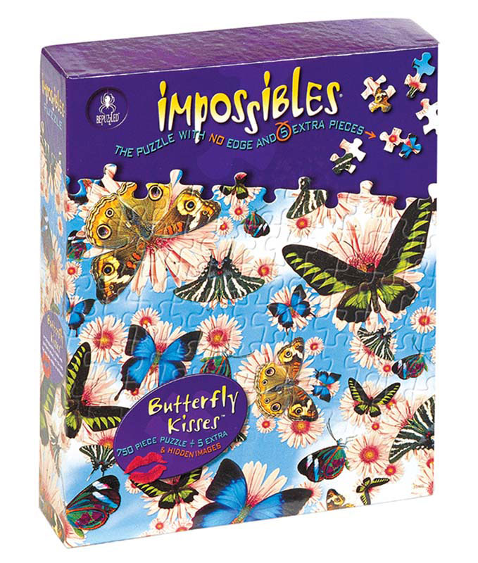 Impossibles Puzzles - Butterfly Kisses - Scratch and Dent Butterflies and Insects Hidden Images