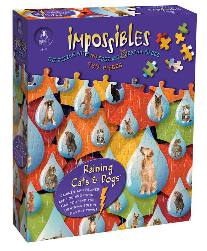 Impossibles Puzzles - Raining Cats & Dogs Dogs Jigsaw Puzzle