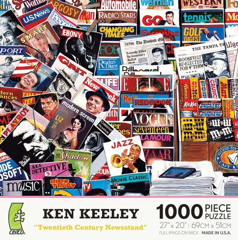 Twentieth Century Newsstand Magazines and Newspapers Jigsaw Puzzle