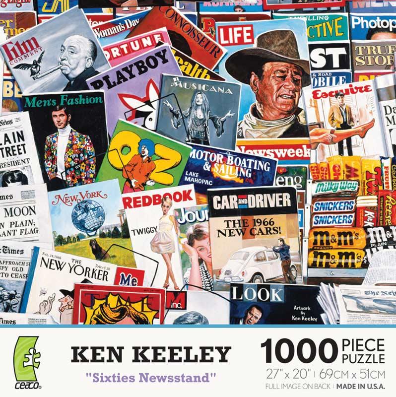 Sixties Newsstand Americana Jigsaw Puzzle