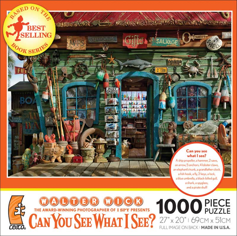 Can you See What I See? On the Porch Beach Jigsaw Puzzle