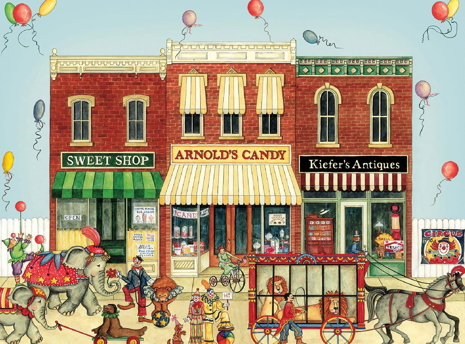 Circus Parade (Ellen Stouffer) - Scratch and Dent Animals Jigsaw Puzzle