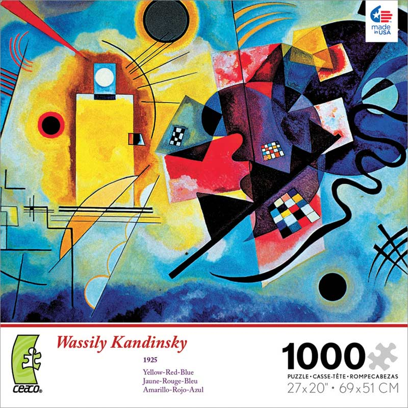 Modern art kandinsky yellow red blue jigsaw puzzle for Puzzle kandinsky
