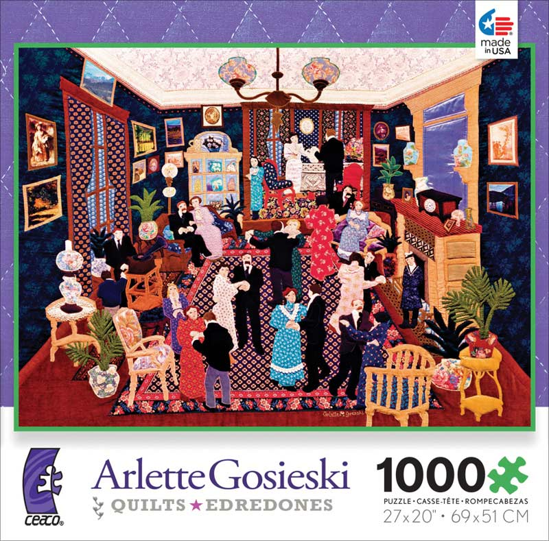 Party at Linette's (Quilts) - Scratch and Dent Crafts & Textile Arts Jigsaw Puzzle