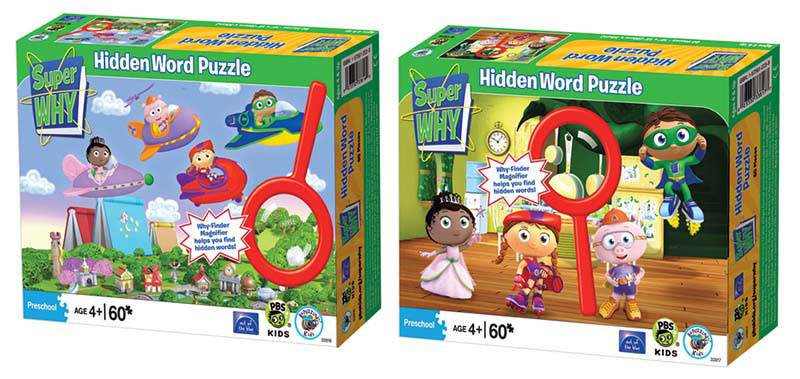 Super Why Hidden Word Assortment 2 Puzzles Jigsaw Puzzle