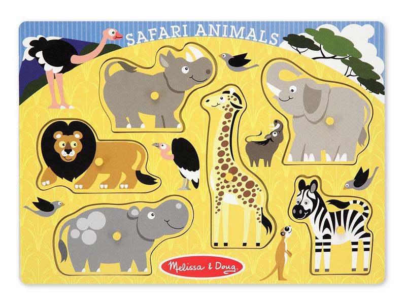 Peg Puzzle - Safari Animals Lions Jigsaw Puzzle