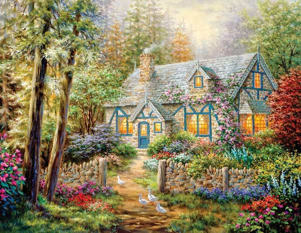 Cottage Hideaway Cottage/Cabin Jigsaw Puzzle