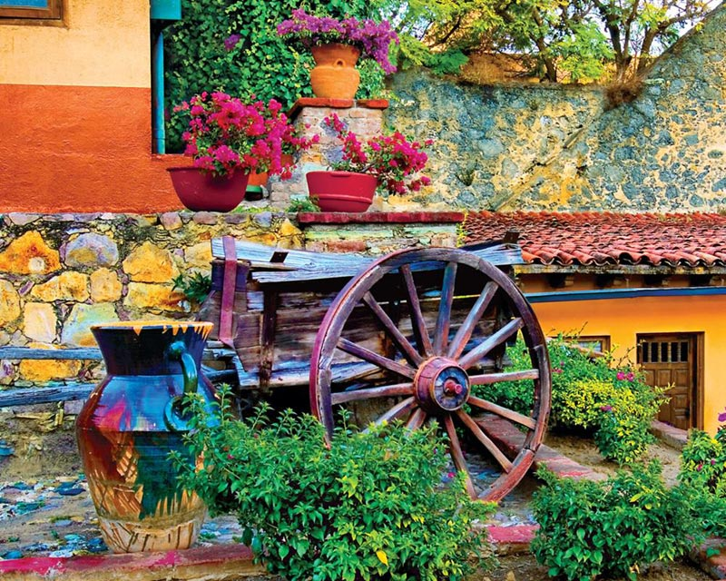 Colorful Courtyard Garden Jigsaw Puzzle