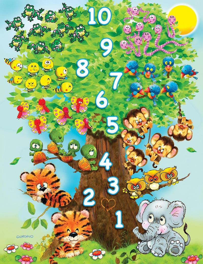 Counting Tree Animals Jigsaw Puzzle