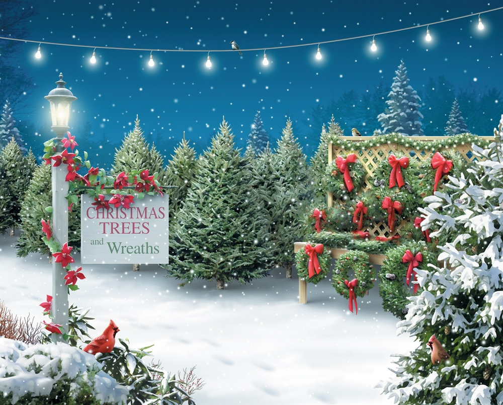 christmas tree lane christmas jigsaw puzzle
