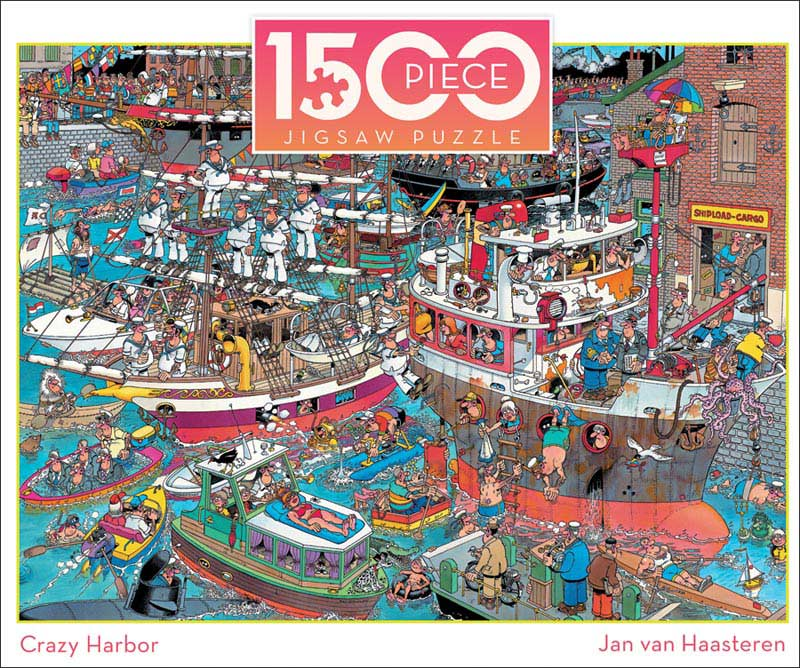 Crazy Harbor Boats Jigsaw Puzzle