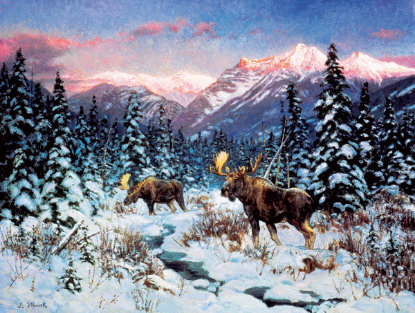 Last Light Mountains Jigsaw Puzzle