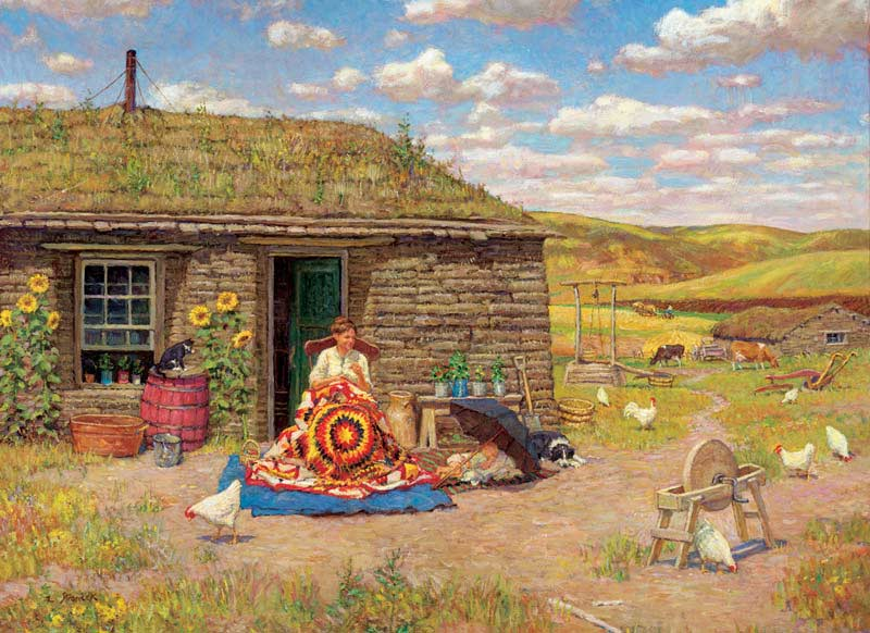 Prairie Star Chickens & Roosters Jigsaw Puzzle