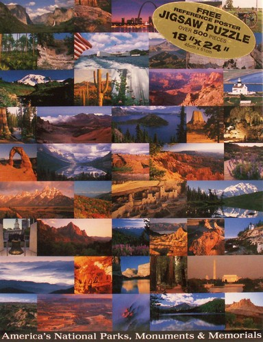America's National Parks and Memorials Landmarks Jigsaw Puzzle