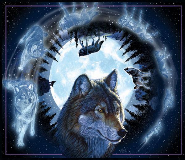Moonwalk Wolves Jigsaw Puzzle