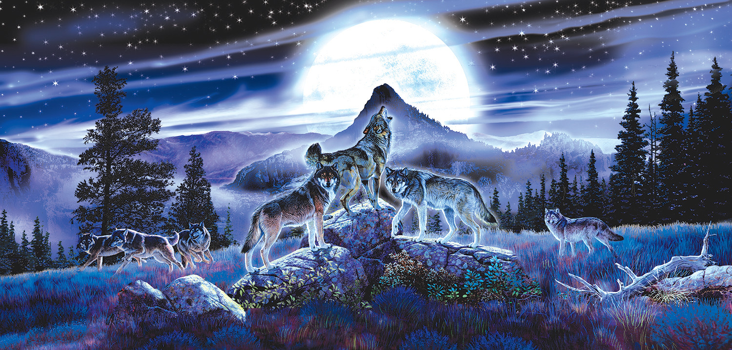 Night Wolves - Scratch and Dent Wolves Jigsaw Puzzle