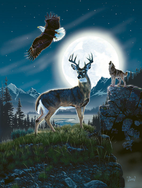 Call of the Night Eagles Jigsaw Puzzle