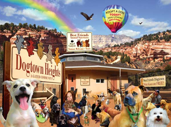 Dog Lovers Welcome Dogs Jigsaw Puzzle