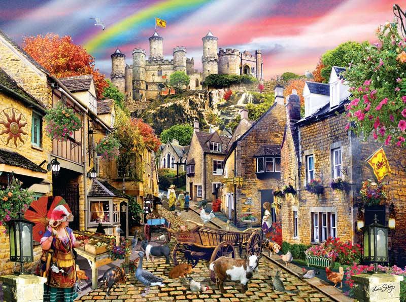 Medieval Village Jigsaw Puzzle Puzzlewarehouse Com