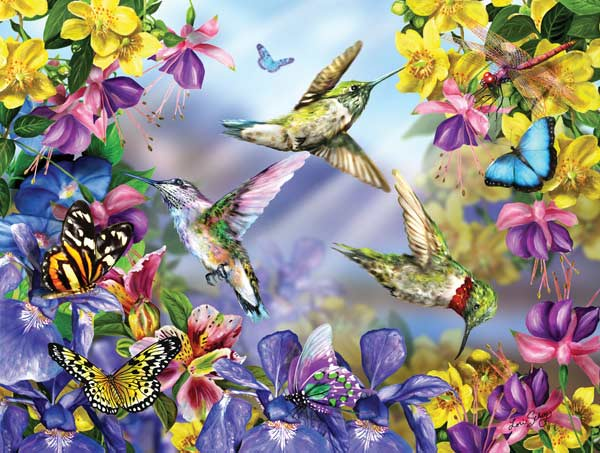 Butterflies & Hummingbirds Birds Jigsaw Puzzle