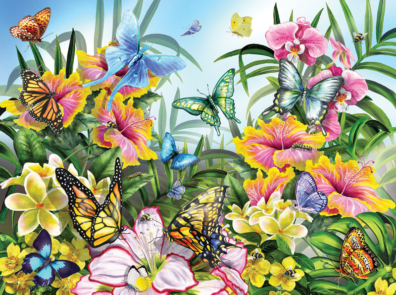 Garden Colors Butterflies and Insects Jigsaw Puzzle
