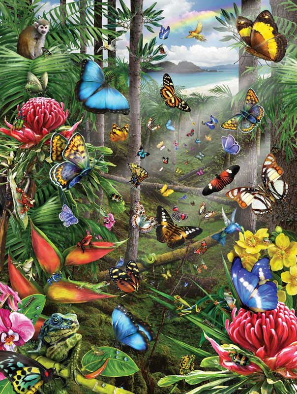 Butterfly Tropics Butterflies and Insects Jigsaw Puzzle