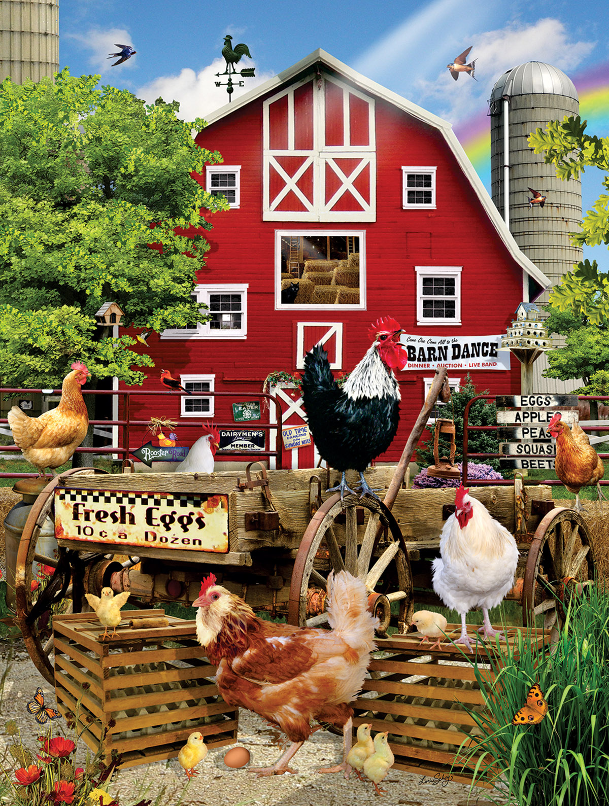Fresh Eggs Farm Jigsaw Puzzle