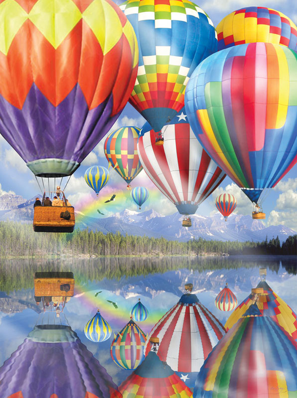 Soaring with Eagles Balloons Jigsaw Puzzle