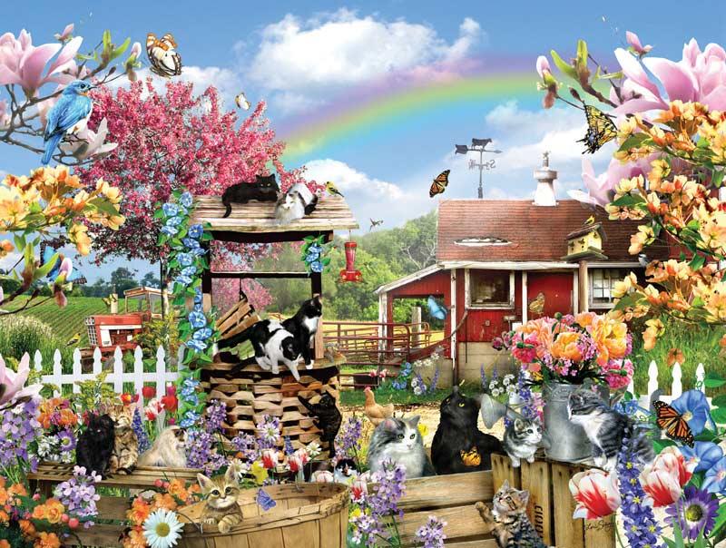 Kitties on the Farm Cats Jigsaw Puzzle