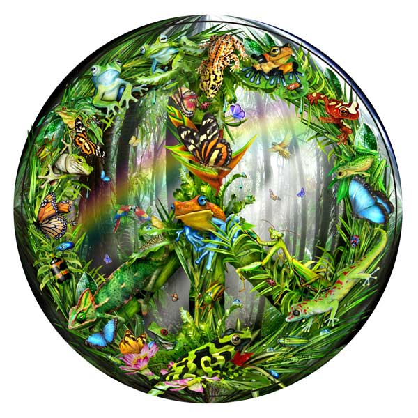 Peace-ful Rainforest Inspirational Jigsaw Puzzle