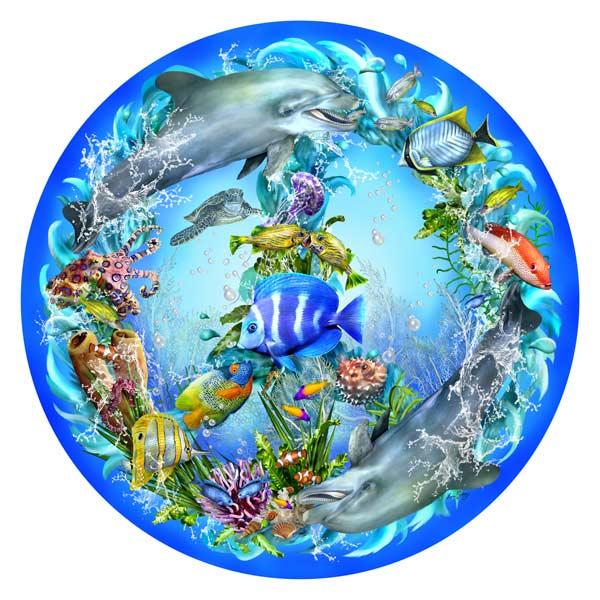 Peace-ful tides Marine Life Jigsaw Puzzle