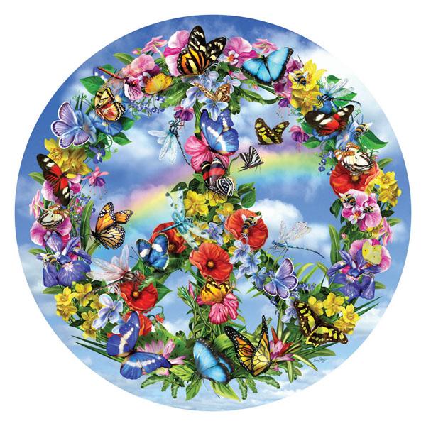 Peace-ful garden Flowers Jigsaw Puzzle