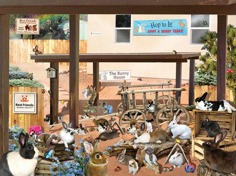 The Bunny House Other Animals Jigsaw Puzzle