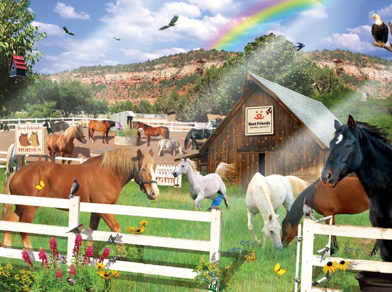 Best Friends Horses Horses Jigsaw Puzzle