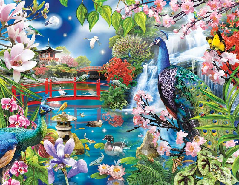 Peacock Garden Jigsaw Puzzle PuzzleWarehousecom