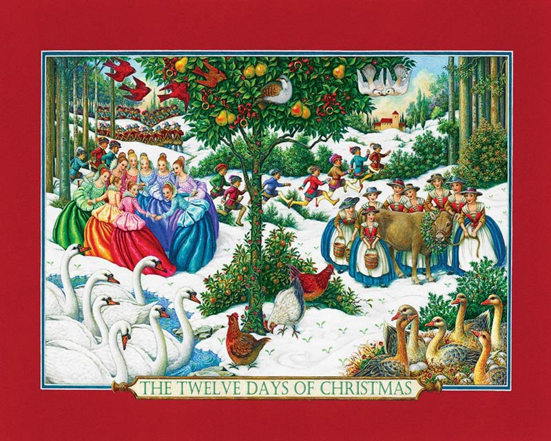 Twelve Days of Christmas Christmas Jigsaw Puzzle